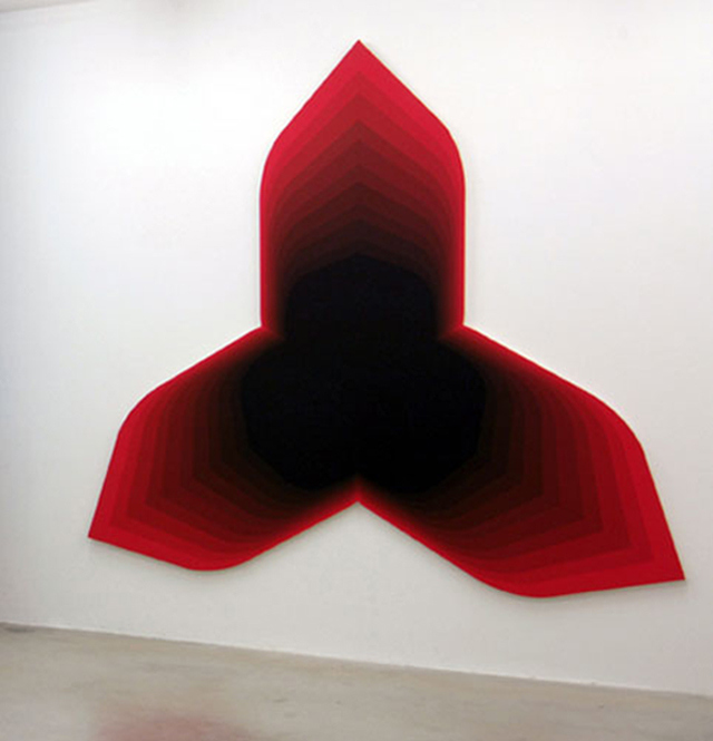 Philippe Decrauzat, 'Up to You', 2005, acrylic on canvas, 265 x 240 cm.