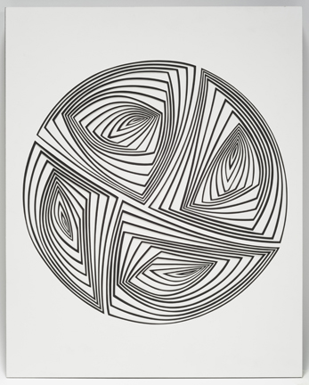 Elizabeth Gregory-Gruen Black & White Flip Circle