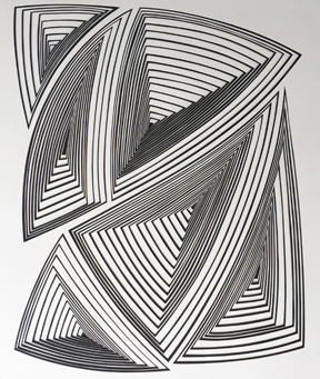 Elizabeth Gregory-Gruen Black & White Abstract -