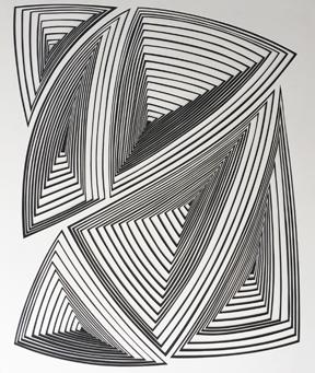 Elizabeth Gregory-Gruen Black & White Abstract -