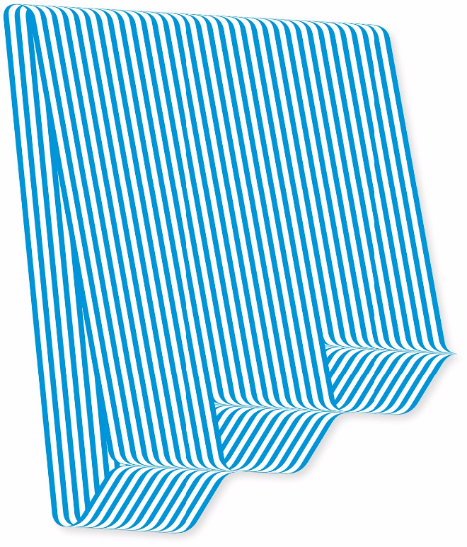 Blue striped artwork by Terry Haggerty