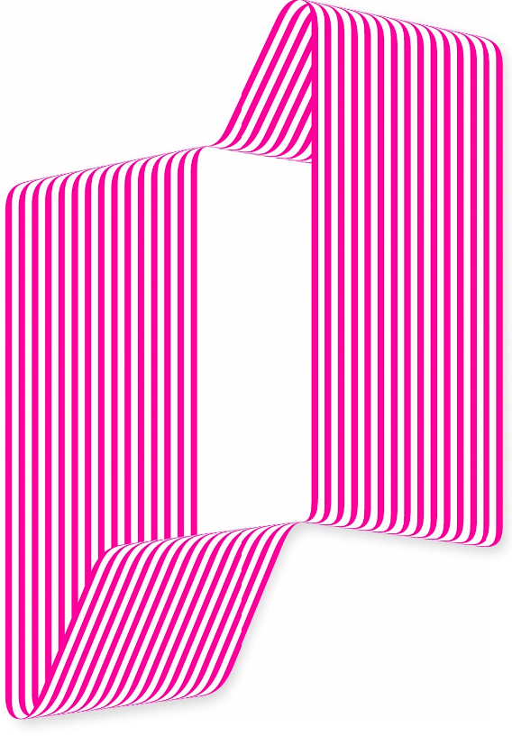 striped hot pink artwork by Terry Haggerty