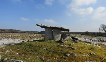 Poulnabrone Dolmen in the Burren, County Clare