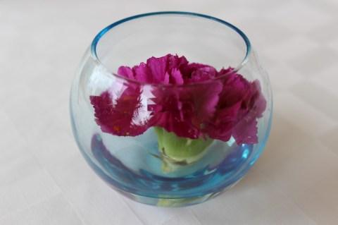 Table flowers at Hotel Rwanda