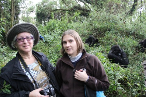Leslie and I with the Gorillas