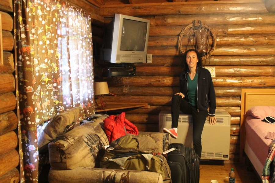 Elana at the Lodestone Motel Cabin in Hill City, SD