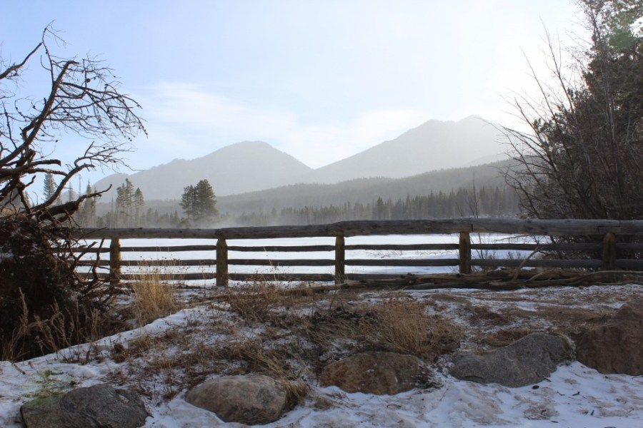 Sprague Lake - Snow-Showing in Estes Park