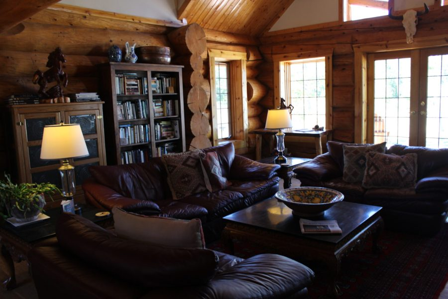 Fireplace and Sitting Area at Wild Horse Inn