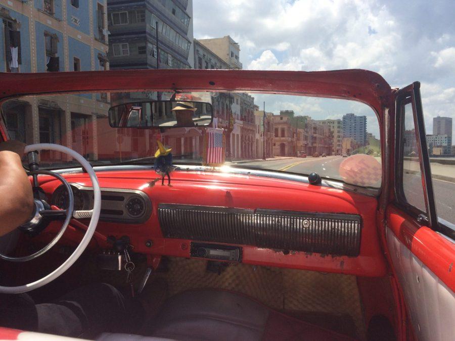 American car taxi in Havana