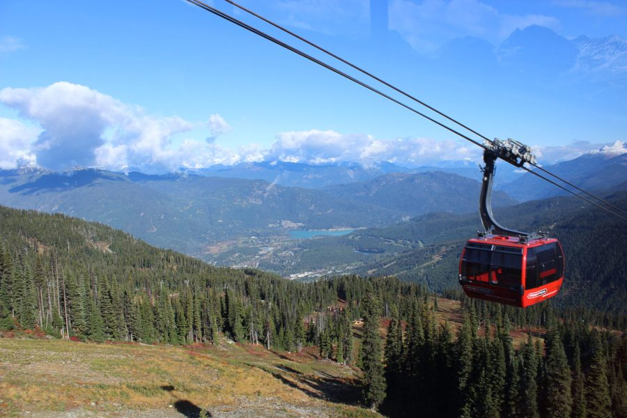 Whistler day-tripping on the gondola