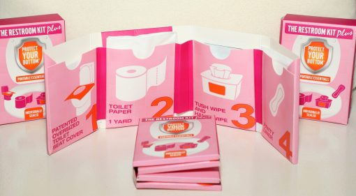 the restroom kit plus - toilet paper on the go - women's emergency bathroom essentials - bathroom toiletries
