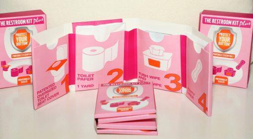the restroom kit plus - toilet paper on the go - women's emergency bathroom essentials - bathroom toiletries