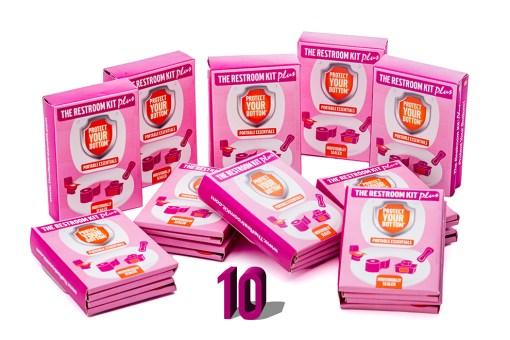 Pack of 10 - Restroom Kit plus