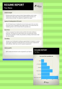 Free resume report