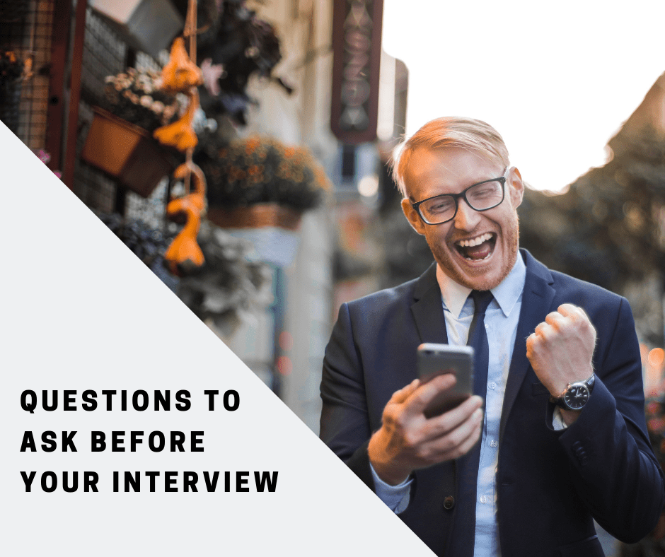 Questions to ask before an interview
