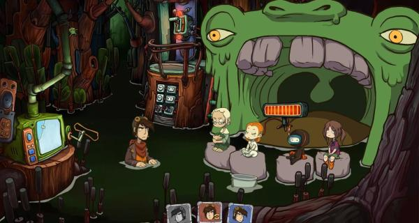 One of the more memorable scenes from Goodbye Deponia.