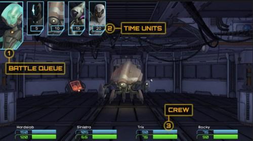 StarCrawlers Battle System screen