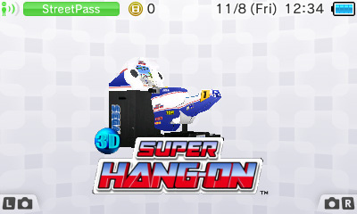 3DS Homescreen Super Hang On Diorama