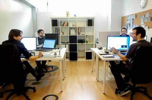The team at Fictiorama seem surprisingly happy for working in such an enclosed space. It must be Friday.