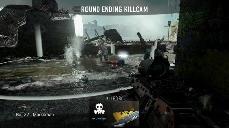 Few things more satisfying than seeing your name pop-up on the round ending killcam. I love my calling card by the way.