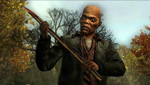Samuel L Jackson realises with a start he had no idea why he was carrying an axe.