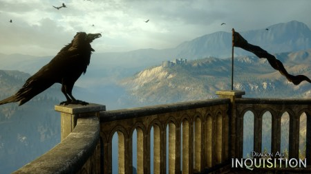 Similarly, you have to make do with this raven from Dragon Age.