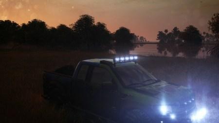I've got a crazy paint scheme on this truck. Thus the evening screenshot.