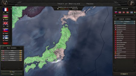 Japan was defeated, and it was time to share out the spoils.