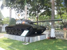 The tank which invaded the Palace