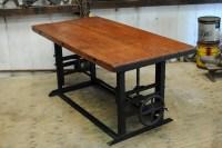 Antique 1940s Crank Table/Bar/Kitchen Island