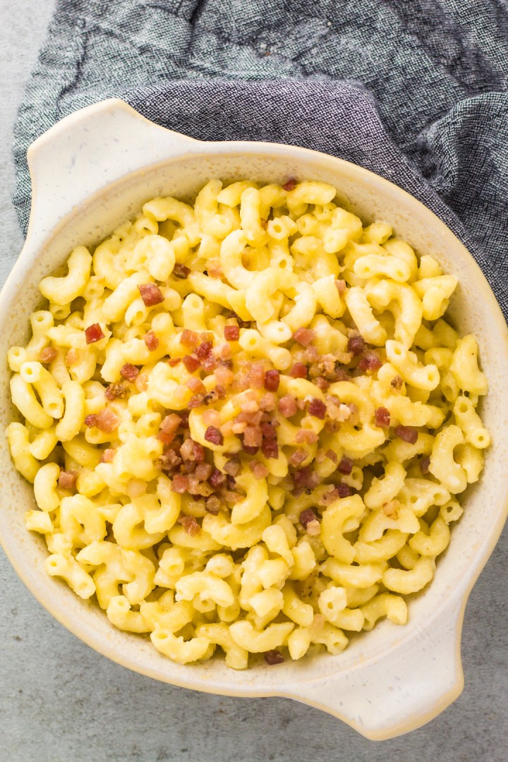 one pot mac and cheese with white cheddar and crispy one pot mac and cheese with white cheddar and crispy panchetta