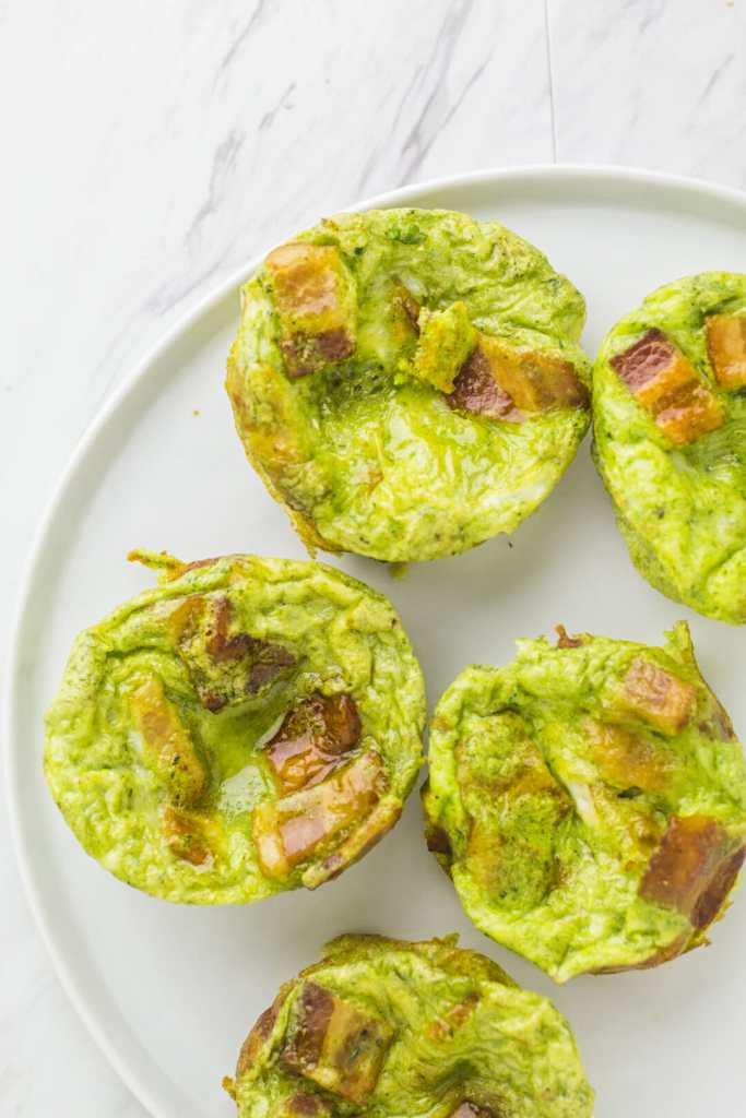 Green Eggs and Ham frittatas