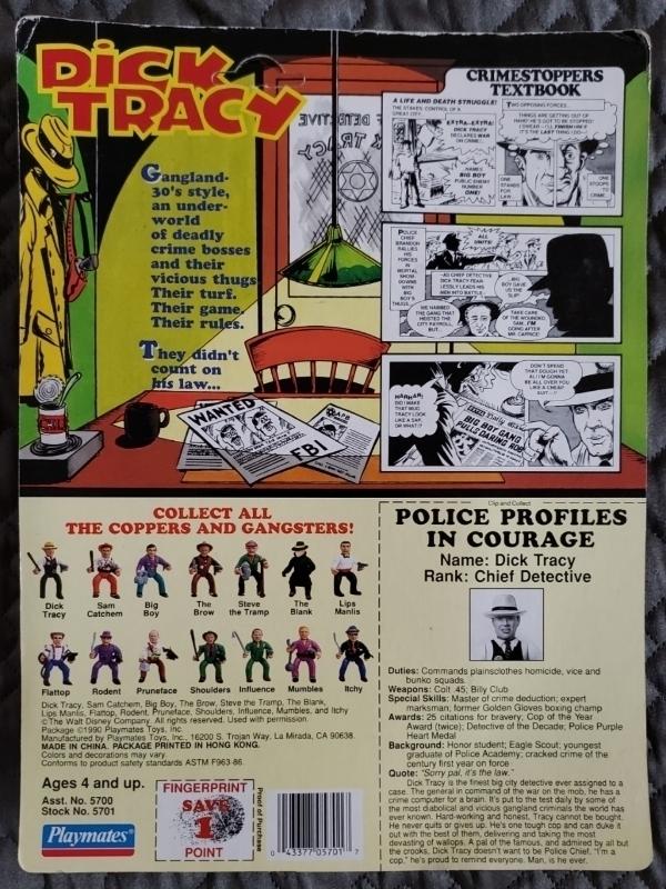 Dick Tracy Movie Toys