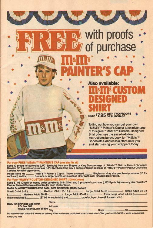 M&M Painter cap ad