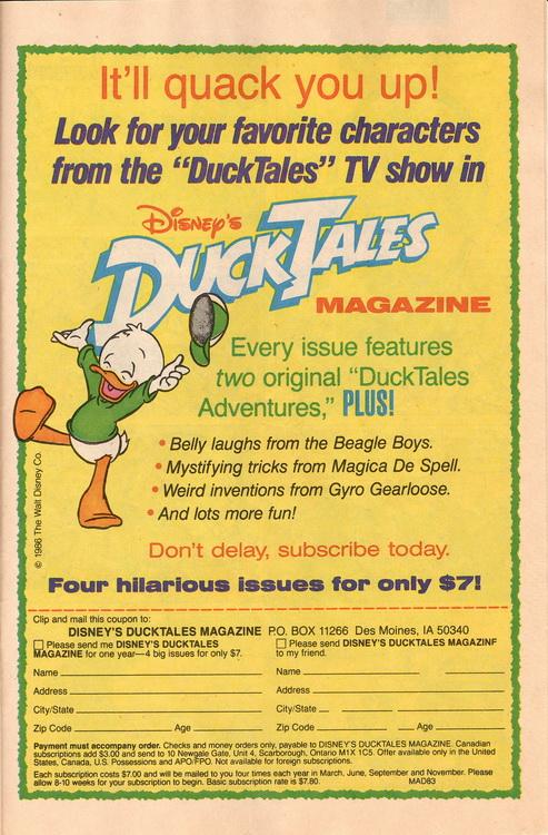 Duck Tales Magazine Ad