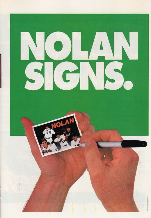 Sleepwalker Nolan Ryan