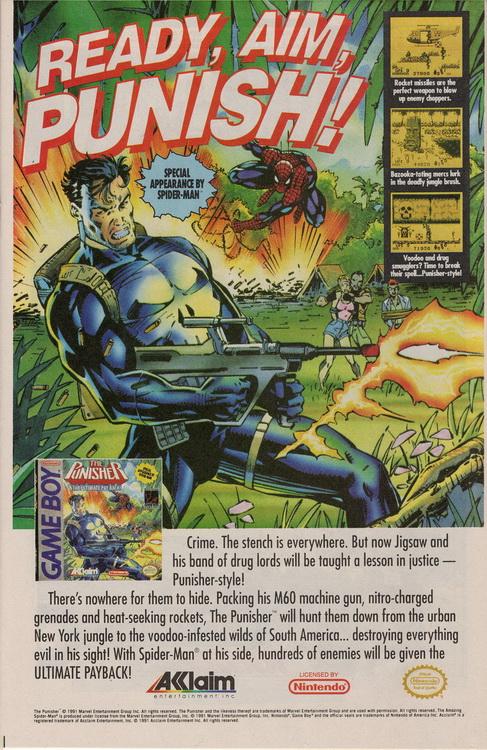 The Incredible Hulk 385 Punisher Game Boy