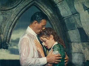 John Wayne and Maureen O'Hara. Soaking wet. And ... yup ...