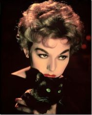 Kim Novak with Pyewacket in BELL BOOK AND CANDLE (1958)