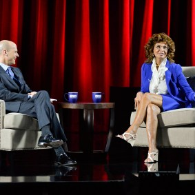 Sophia Loren and Eduardo Ponte at the Live from the TCM Classic Film Festival conversation with Sophia Loren event at the Montalban Theatre on Saturday 2015 TCM Classic Film Festival In Hollywood, California. 3/28/15 PH: Edward M. Pio Roda
