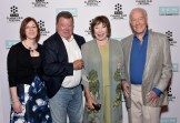 LOS ANGELES, CA - MARCH 27: (L-R) Managing Director of TCM Classic Film Festival Genevieve McGillicuddy, actors William Shatner, Shirley MacLaine and honoree Christopher Plummer attend the Christopher Plummer Hand and Footprint Ceremony during the 2015 TCM Classic Film Festival on March 27, 2015 in Los Angeles, California. 25064_005 (Photo by Stefanie Keenan/WireImage) *** Local Caption *** Genevieve McGillicuddy; William Shatner; Shirley MacLaine; Christopher Plummer
