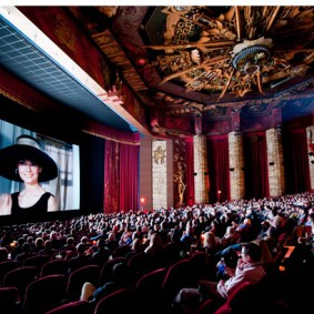 Breakfast at Tiffany's (1961) graces the screen of the Chinese Theatre , 2011