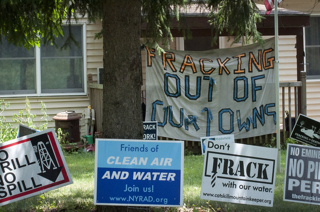 Anti-fracking yard signs