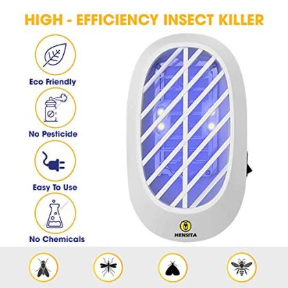 HENSITA Electronic Bug Zapper- Indoor Insect Trap for Mosquitoes