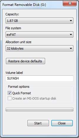 fat32 and exfat