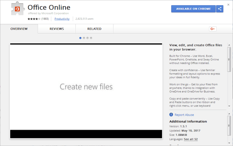 Office Online Chrome extensions