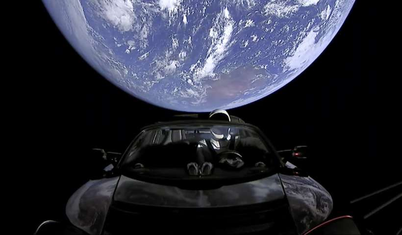 spaceman on tesla
