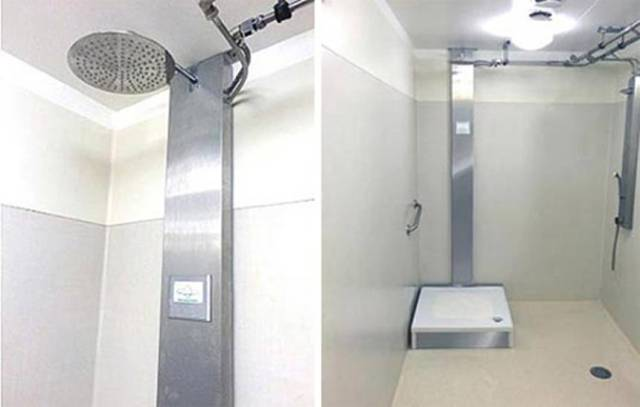 shower that reuses its own water
