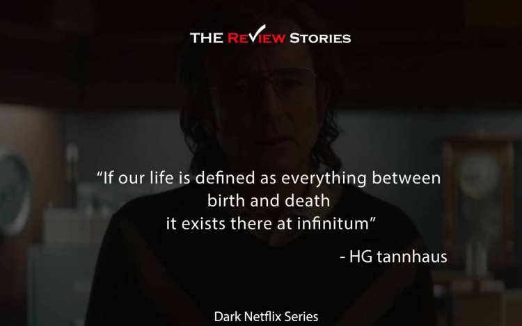 if our life is defined as everything between birth and death it exists at infinitum