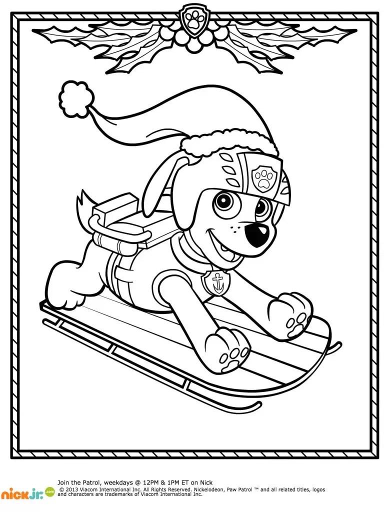 Paw Patrol Winter Rescues Plus a Paw Patrol Coloring Page